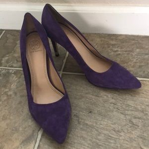 Tory Burch Purple Greenwich Leather Heels size 9